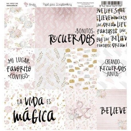 Papel Scrap SPECIAL EVENTS PINK frases