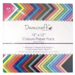 Pack papeles colores Dovecraft 120 gramos