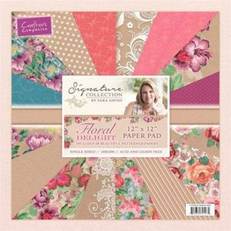"Block Paped Pad ""Floral Delight"""