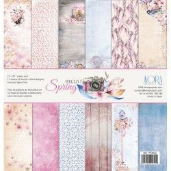 "Pack papeles "" HELLO SPRING"" KORA PROYECT"
